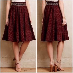 Anthropologie Maeve High Waisted A-Line Skirt